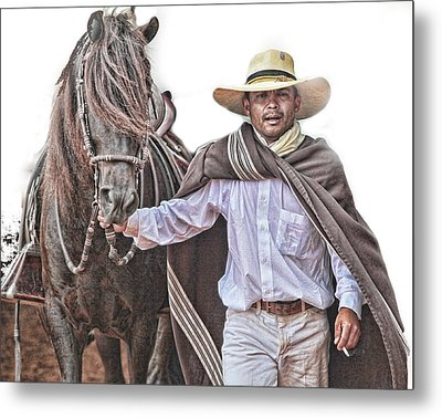 Leading To Competition Peruvian Horse Metal Print by Toni Hopper