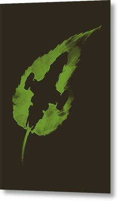 Leaf On The Wind Metal Print by Vincent Carrozza