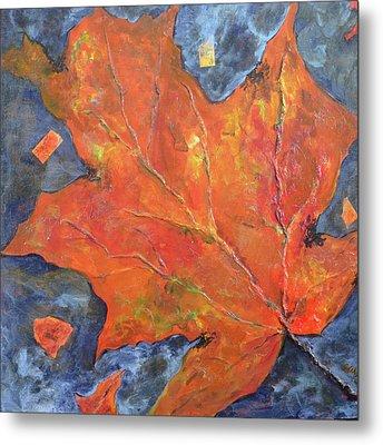 Leaf Seeking Rest Metal Print