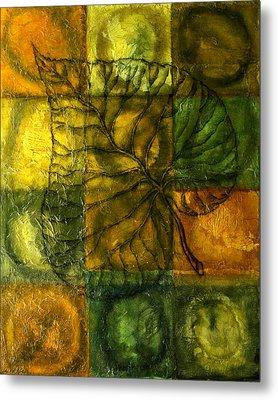 Leaf Whisper Metal Print by Leon Zernitsky