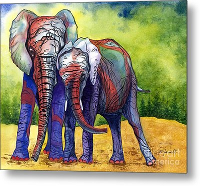 Metal Print featuring the painting Lean On Me by Barbara Jewell