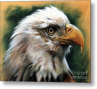 Leather Eagle Metal Print by J W Baker