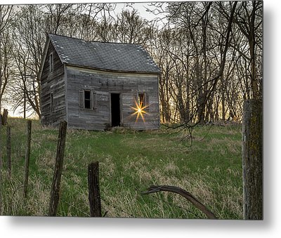 Leaving The Light On Metal Print by Penny Meyers