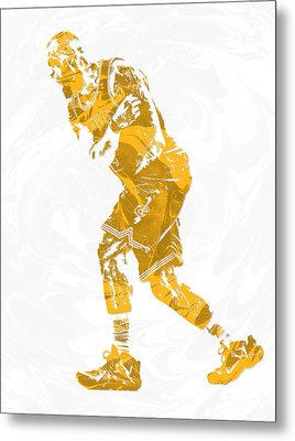 Lebron James Cleveland Cavaliers Pixel Art 13 Metal Print