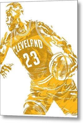 Lebron James Cleveland Cavaliers Pixel Art 20 Metal Print