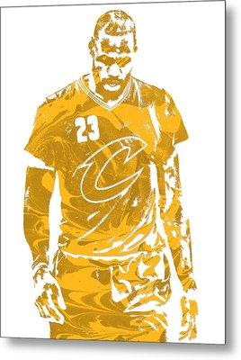 Lebron James Cleveland Cavaliers Pixel Art 21 Metal Print