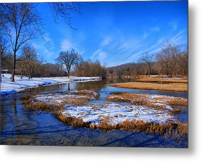 Leftover Snow Metal Print by Rick Friedle