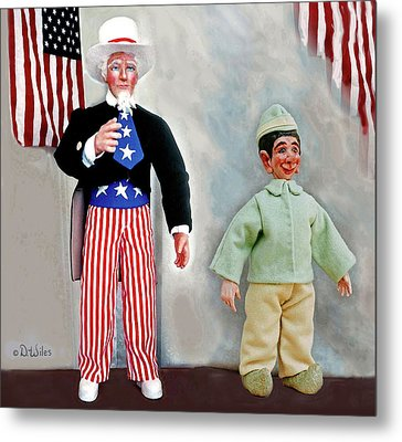 Lefty And Sam Metal Print by David Wiles