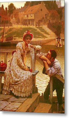 Leighton Edmund Blair Courtship Metal Print