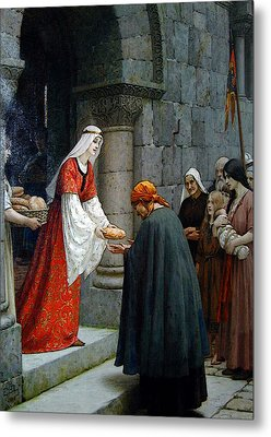 Leighton Edward Blair Charity Of St Elizabeth Of Hungary Metal Print