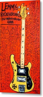 Lemmy's Rickenbacker 4001 Rickenbastard Metal Print by Karl Haglund