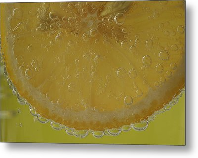 Metal Print featuring the photograph Lemon Bubbles by Christine Amstutz