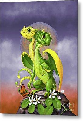 Lemon Lime Dragon Metal Print by Stanley Morrison
