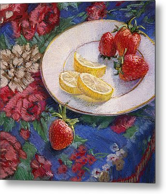 Lemons N Berries Metal Print by L Diane Johnson