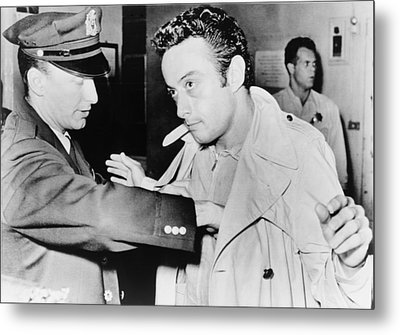 Lenny Bruce 1925-1966, Being Searched Metal Print by Everett
