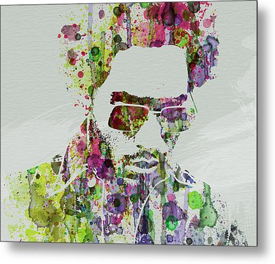 Lenny Kravitz 2 Metal Print by Naxart Studio