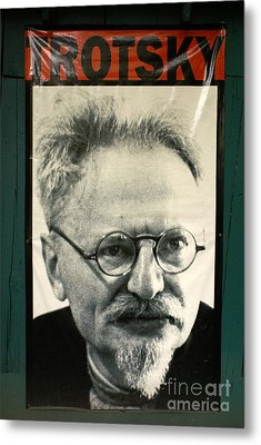 Leon Trotsky Poster Mexico City Metal Print by John  Mitchell