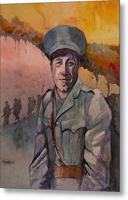 Metal Print featuring the painting Leonard Keysor Vc by Ray Agius