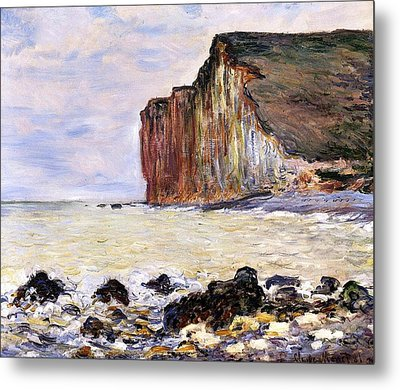 Les Petites Dalles Metal Print by Claude Monet