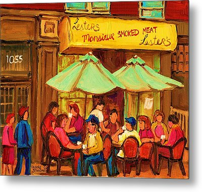Lesters Monsieur Smoked Meat Metal Print by Carole Spandau