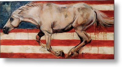 Let Freedom Run Metal Print by Mary Leslie