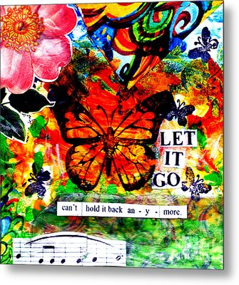 Metal Print featuring the mixed media Let It Go by Genevieve Esson