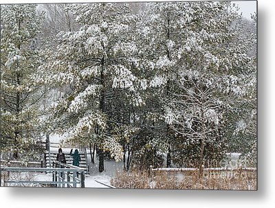 Let It Snow Metal Print by Charline Xia