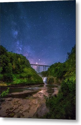 Letchworth At Night Metal Print