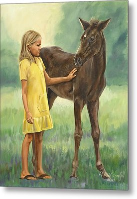 Let's Be Friends Metal Print by Karen Wilson