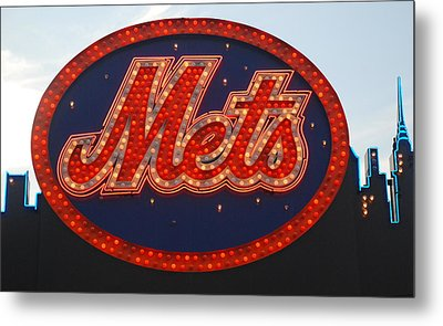 Lets Go Mets Metal Print by Richard Bryce and Family
