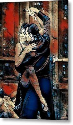 Metal Print featuring the digital art Let's Tango by Pennie McCracken