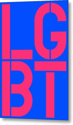 Lgbt Blue And Pink Metal Print by Three Dots