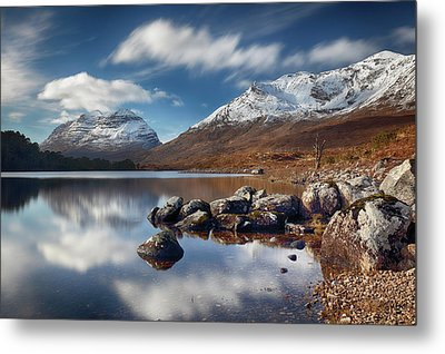 Metal Print featuring the photograph Liathach by Grant Glendinning