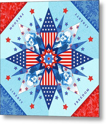 Liberty Quilt Metal Print