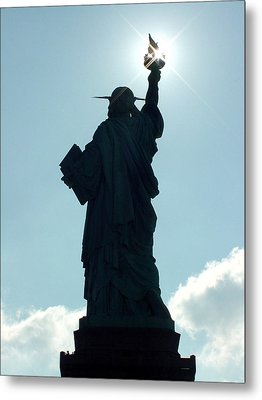 Metal Print featuring the photograph Liberty V02 by Tim Mattox
