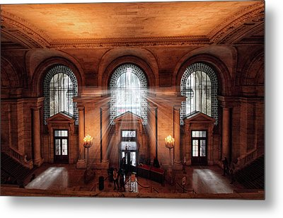 Library Entrance Metal Print by Jessica Jenney