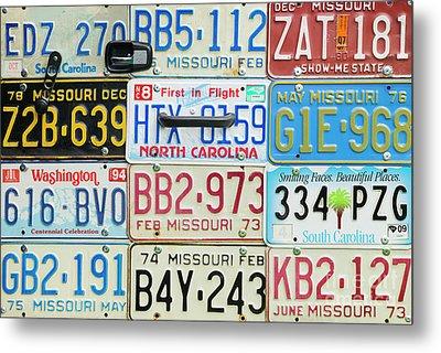 License Plates Metal Print