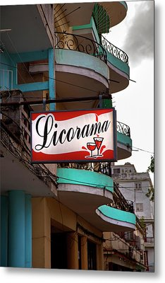 Licorama Bar Liquor Store In Havana Cuba At Calle 6 Metal Print by Charles Harden