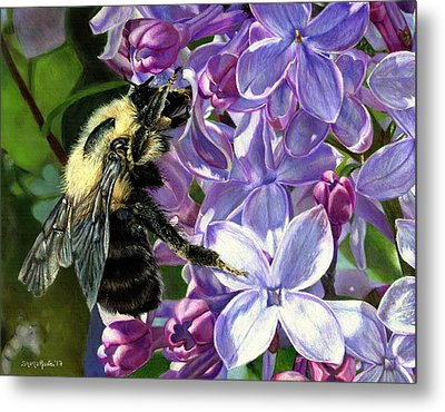 Life Among The Lilacs Metal Print