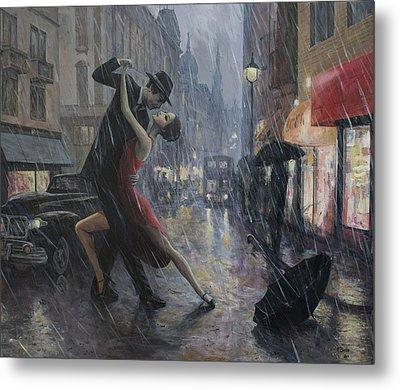 Life Is A Dance In The Rain Metal Print