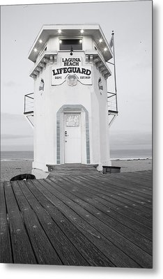 Lifeguard Tower Metal Print by Eric Foltz