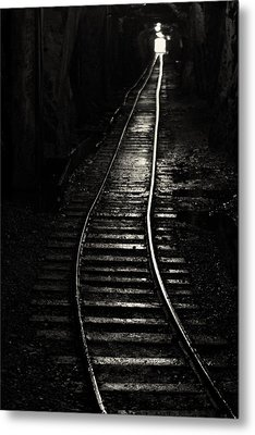 Light At The End Of The Tunnel Metal Print by Naman Imagery