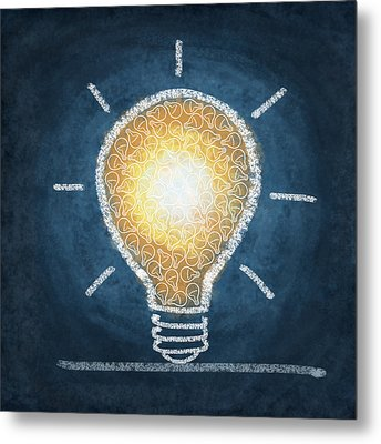 Light Bulb Design Metal Print
