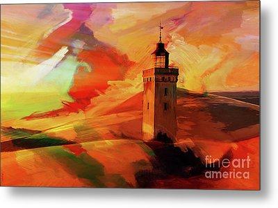 Light House In A Desert 03 Metal Print by Gull G
