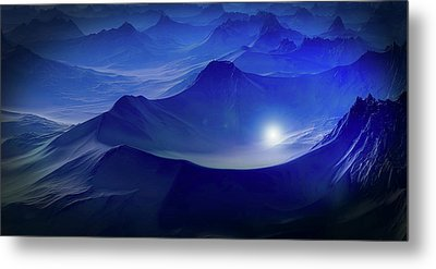 Light In The Mountains Metal Print