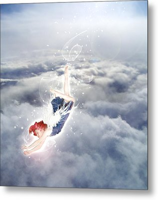 Light Play Angels Descent Metal Print by Nikki Marie Smith