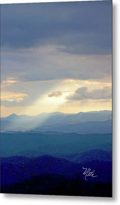 Light Ray Sunset Metal Print by Meta Gatschenberger