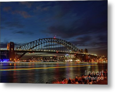 Metal Print featuring the photograph Light Trails On The Harbor By Kaye Menner by Kaye Menner