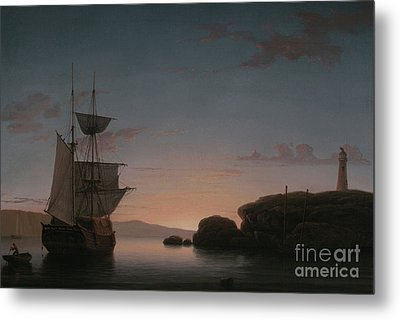 Lighthouse At Camden, Maine, 1851 Metal Print by Fitz Henry Lane
