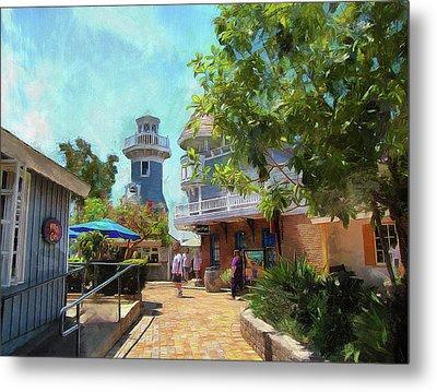 Lighthouse At Seaport Village Metal Print